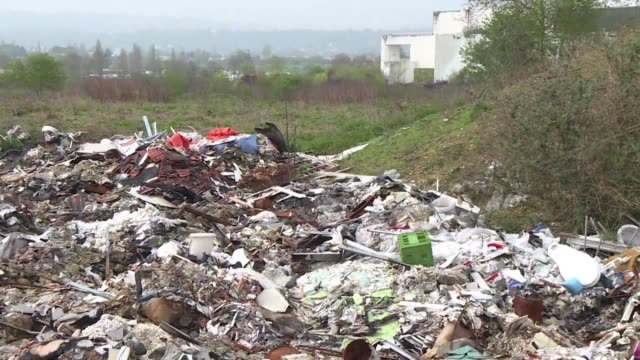 mountains of waste piled up along the road near the seine or in the middle of a forest illegal dumping by private individuals and construction... - ile de france stock videos and b-roll footage