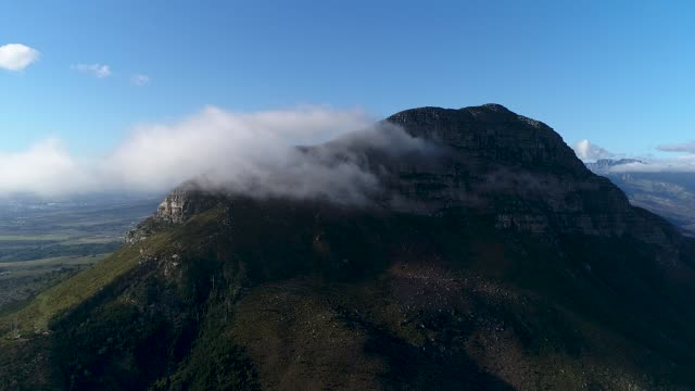 mountains peaking through the clouds - western cape province stock videos & royalty-free footage