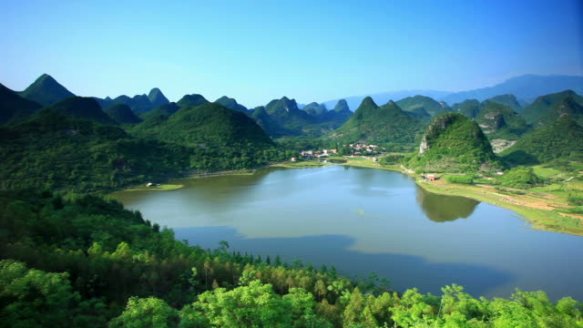 mountains scenery of guilin - 1969 stock videos & royalty-free footage