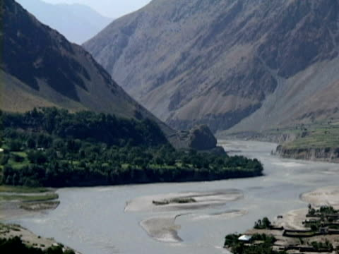 WS LS ZO HA Mountains, vegetation and river, Jalalabad , Nangarhar, Afghanistan