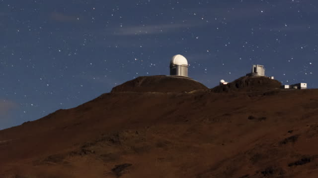A Mountain-top Observatory in Moonlight
