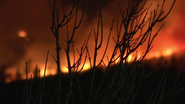 mourne mountains wildfire: officials allege fires were started deliberately; this week northern ireland: county down: mourne mountains: ext / night... - mountain range stock videos & royalty-free footage
