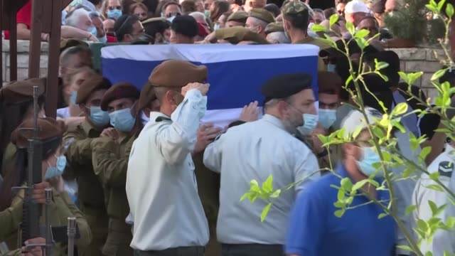 mourners participate in the funeral of 21-year-old israeli soldier staff sergeant amit ben igal who was hit in the head with a stone thrown by a a... - sergeant stock videos & royalty-free footage