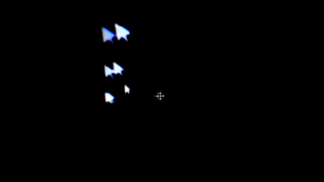 Mouse cursor on black screen - trace