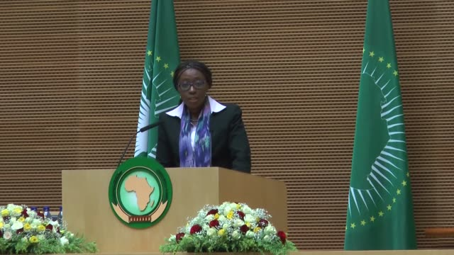 moussa faki mahamat, chairperson of the au commission and vera songwe, executive secretary of the united nations economic commission for africa,... - chairperson stock videos & royalty-free footage
