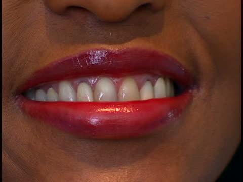 mouth close-up - bocca umana video stock e b–roll