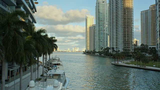 mouth of the miami river - miami dade county stock videos & royalty-free footage