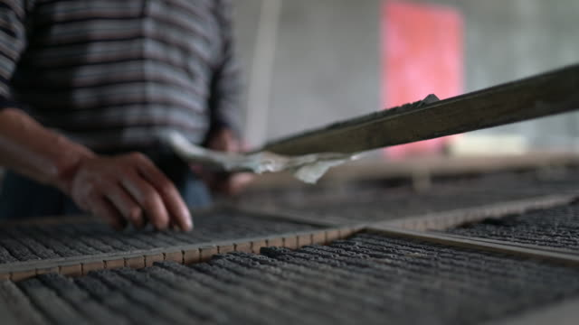 movable type printing in china - druckmaschine stock-videos und b-roll-filmmaterial