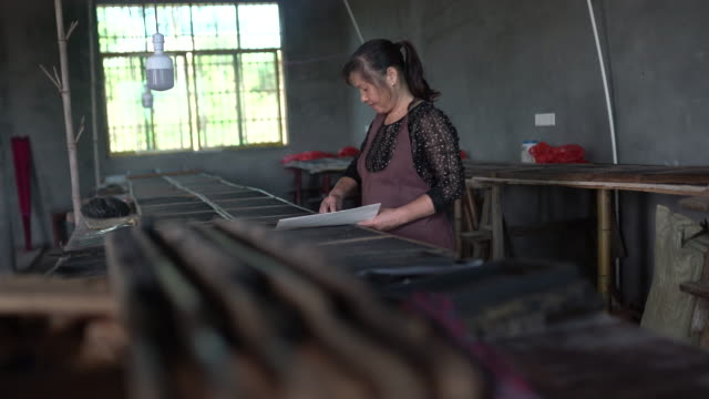 movable type printing in china - compositore video stock e b–roll