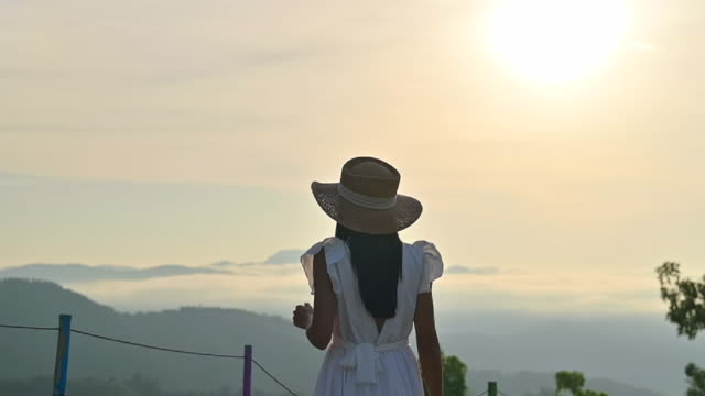 move on to the nature morning mist - white dress stock videos & royalty-free footage