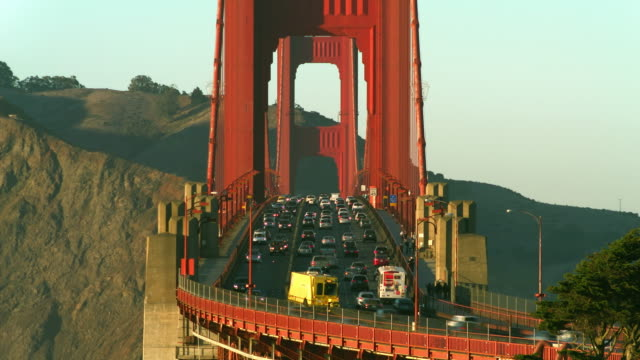 moveable median barrier on the golden gate bridge time lapse - 1963 stock videos & royalty-free footage