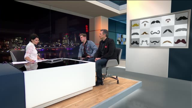 london gir int joe wilkinsonwelch live studio interview sot - movember stock videos & royalty-free footage