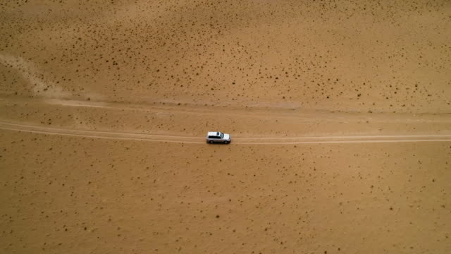movement of the desert sand in the gobi valley. - ジープ点の映像素材/bロール