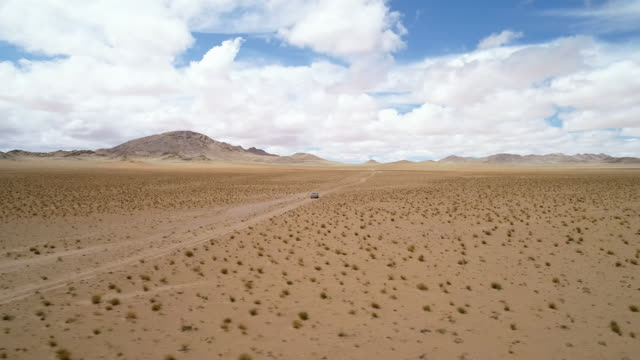 Movement of the desert sand in the Gobi Valley.