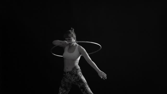 movements with hoops - performer stock videos and b-roll footage