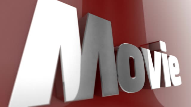 Movie, animated 3D Text