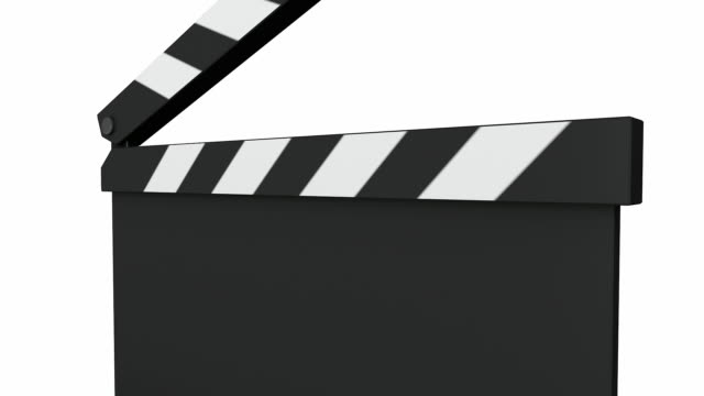 movie clapperboard - film slate stock videos & royalty-free footage