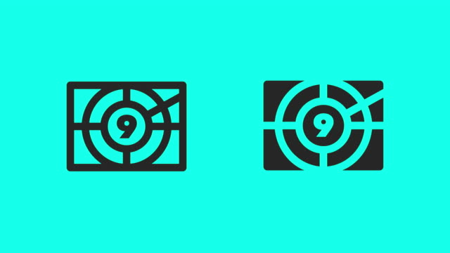 movie countdown icons - vector animate - stop watch stock videos & royalty-free footage