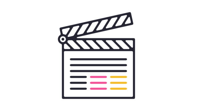 movie director icon animation - cut video transition stock videos & royalty-free footage