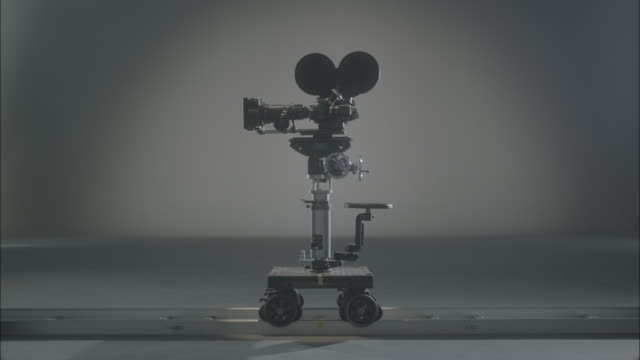 Movie Film camera body and wheels for dolly shot