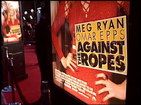 movie poster at the 'against the ropes' premiere at grauman's chinese theatre in hollywood california on february 11 2004 - movie poster stock videos & royalty-free footage
