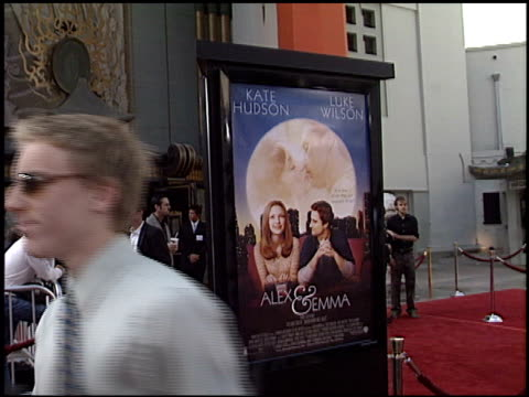 movie poster at the 'alex and emma' premiere at grauman's chinese theatre in hollywood california on june 16 2003 - movie poster stock videos & royalty-free footage