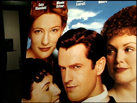 movie poster at the 'an ideal husband' premiere at dga in los angeles california on june 9 1999 - movie poster stock videos & royalty-free footage