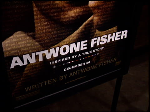 movie poster at the 'antwone fisher' premiere at the cinerama dome at arclight cinemas in hollywood california on november 7 2002 - movie poster stock videos & royalty-free footage