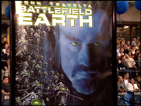 movie poster at the 'battlefield earth' premiere at grauman's chinese theatre in hollywood california on may 10 2000 - battlefield stock videos & royalty-free footage