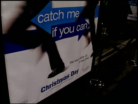 movie poster at the 'catch me if you can' premiere on december 16, 2002. - poster stock videos & royalty-free footage