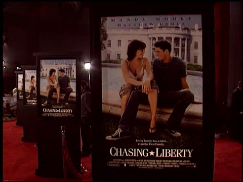 movie poster at the 'chasing liberty' premiere at grauman's chinese theatre in hollywood california on january 7 2004 - movie poster stock videos & royalty-free footage