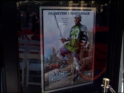 movie poster at the dedication of martin lawrence's footprints at grauman's chinese theatre in hollywood, california on november 19, 2001. - マン・シアターズ点の映像素材/bロール
