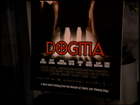 Movie Poster at the 'Dogma' Premiere at Harmony Gold Theater in Hollywood California on November 9 1999