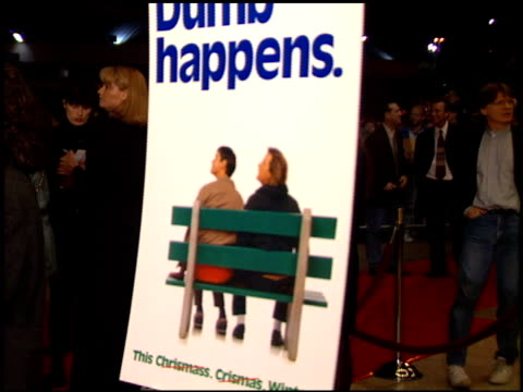 movie poster at the 'dumb and dumber' premiere at the cinerama dome at arclight cinemas in hollywood california on december 6 1994 - arclight cinemas hollywood stock videos and b-roll footage