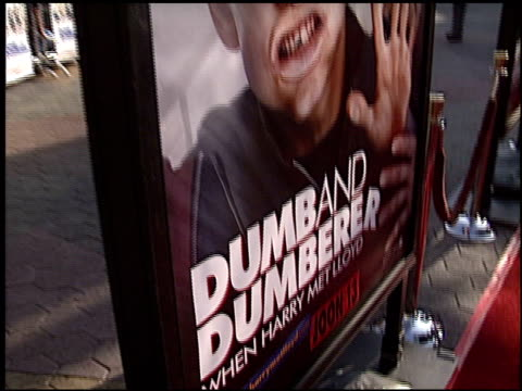 movie poster at the 'dumb and dumberer' premiere at universal in universal city california on june 11 2003 - movie poster stock videos & royalty-free footage