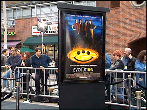 movie poster at the 'evolution' premiere at the mann national theatre in westwood california on june 1 2001 - mann national theater stock videos & royalty-free footage