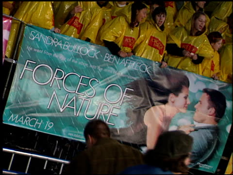 movie poster at the 'forces of nature' premiere at the mann village theatre in westwood california on march 12 1999 - movie poster stock videos & royalty-free footage
