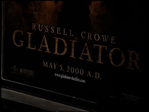 Movie Poster at the 'Gladiator' Premiere at Academy Theater in Beverly Hills California on May 1 2000