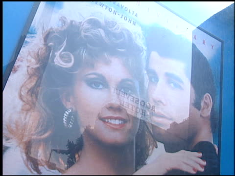 movie poster at the 'grease' premiere at grauman's chinese theatre in hollywood california on march 15 1998 - movie poster stock videos & royalty-free footage