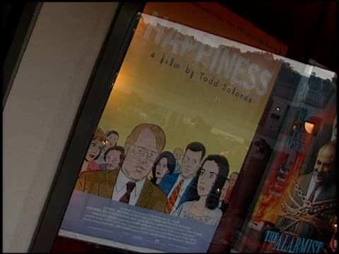 movie poster at the 'happiness' premiere at laemmle's sunset 5 in los angeles california on october 16 1998 - movie poster stock videos & royalty-free footage