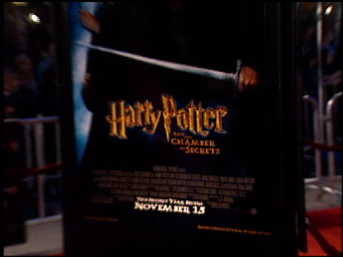 movie poster at the 'harry potter and the chamber of secrets' premiere on november 14 2002 - potter stock videos & royalty-free footage
