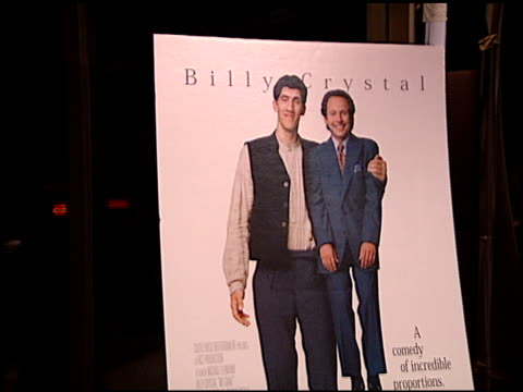 movie poster at the 'my giant' premiere at academy theater in beverly hills california on march 26 1998 - movie poster stock videos & royalty-free footage