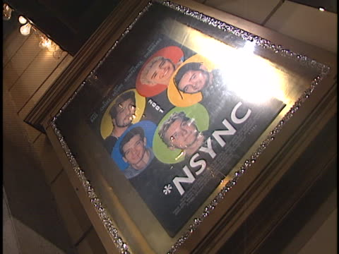 movie poster at the n sync promo shoot at universal - n sync stock-videos und b-roll-filmmaterial