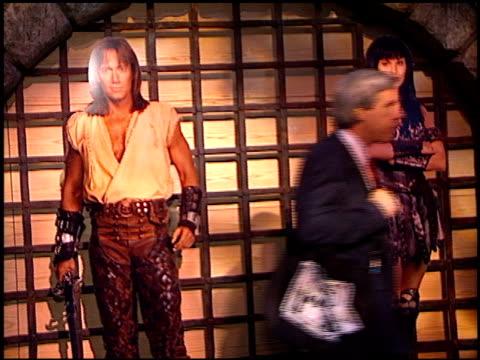 vídeos de stock e filmes b-roll de movie poster at the natpe convention on january 20, 1998. - natpe convention