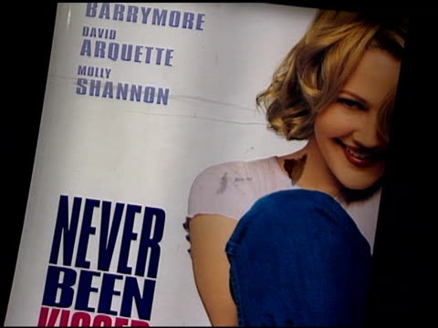 movie poster at the 'never been kissed' premiere at grauman's chinese theatre in hollywood california on march 30 1999 - movie poster stock videos & royalty-free footage