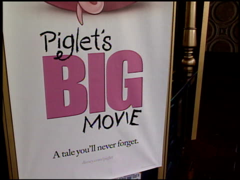 movie poster at the 'piglet's big movie' premiere at the el capitan theatre in hollywood california on march 16 2003 - el capitan theatre stock videos & royalty-free footage