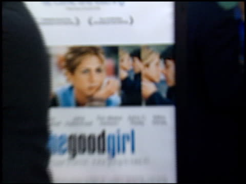 movie poster at the premiere of 'the good girl' at pacific design center in west hollywood california on august 7 2002 - pacific design center stock videos and b-roll footage