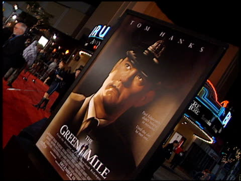 movie poster at the premiere of 'the green mile' at the mann village theatre in westwood california on december 6 1999 - movie poster stock videos & royalty-free footage