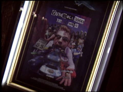 movie poster at the premiere of 'the gumball 3000 movie' at grauman's chinese theatre in hollywood california on february 19 2004 - mann theaters video stock e b–roll