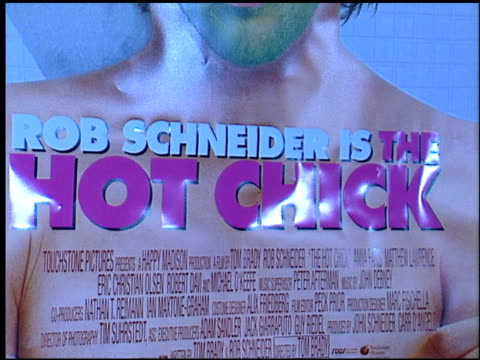 movie poster at the premiere of 'the hot chick' at leow's cineplex in century city california on december 2 2002 - movie poster stock videos & royalty-free footage